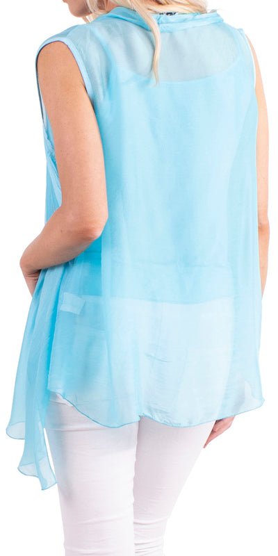 Margherita Two-piece Silk Vest