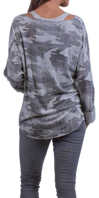 Piera Two-Piece Camo Sweater