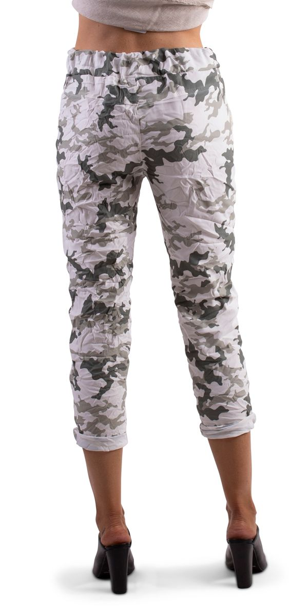 Army Tie Waist Cropped Pants
