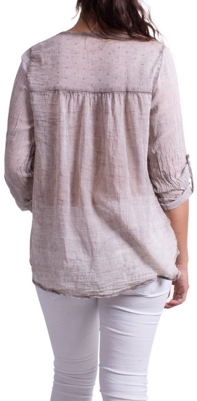 Viola Embroidered V-Neck