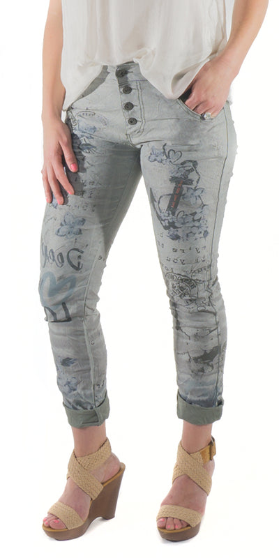 Anchor Print Jeans