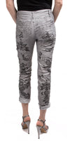 Arabesque Print Jean With Studs