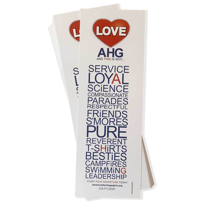 AHG Bookmarks - Pack of 100