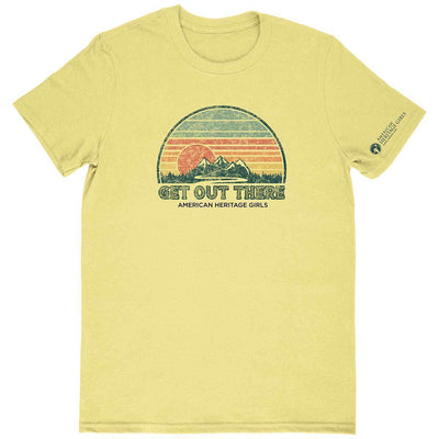 Get Out There Retro Adult T-Shirt Spring Yellow / As 4110 Wearables