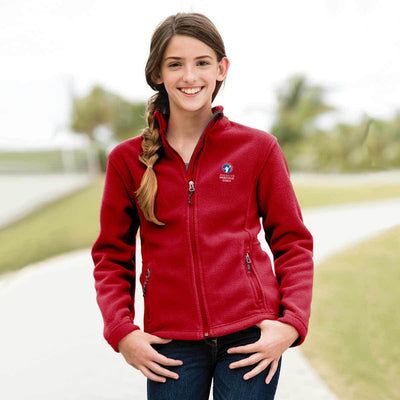 Ahg Youth Fleece Jacket True Red / Ys 4110 Wearables