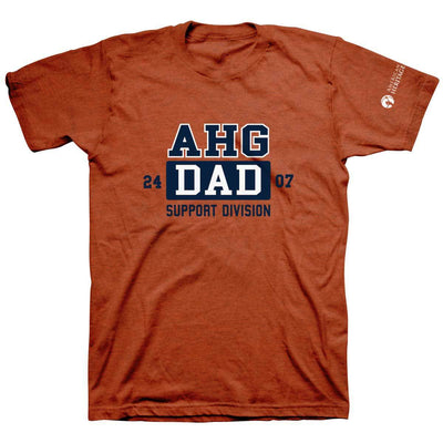 Ahg Dad Support Division Tee Antique Orange / Am 4110 Wearables
