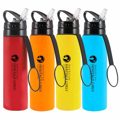 AHG Collapsible Water Bottle w/ Carabiner (4 Colors)