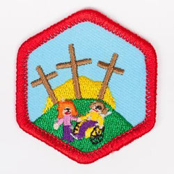 All Gods Children Badge Red-Ex 4140 Badges
