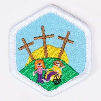 All Gods Children Badge White-Pi/pa 4140 Badges