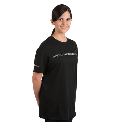 American Heritage Girls T-Shirt Black / Ys 4110 Wearables