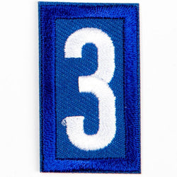 Blue Troop Number Patches / 3 4135 Uniforms