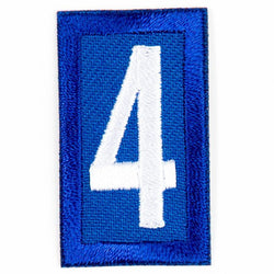 Blue Troop Number Patches / 4 4135 Uniforms