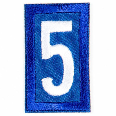 Blue Troop Number Patches / 5 4135 Uniforms