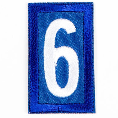 Blue Troop Number Patches / 6 Or 9 4135 Uniforms