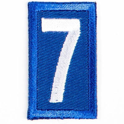 Blue Troop Number Patches / 7 4135 Uniforms