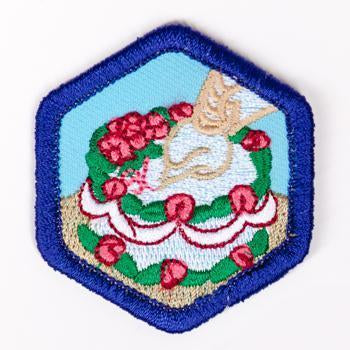 Cake Decorating Badge Blue-Th 4140 Badges