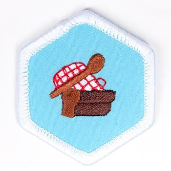 Cooking Badge White-Pi/pa 4140 Badges