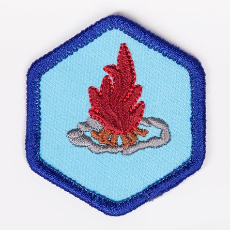 Fire Safety And Building Badge Blue-Th 4140 Badges