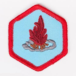 Fire Safety And Building Badge Red-Ex 4140 Badges