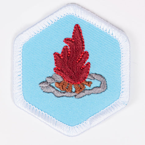 Fire Safety And Building Badge White-Pi/pa 4140 Badges