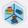 Kid Care Badge White-Pi/pa 4140 Badges