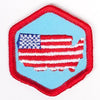 Living In The Usa Badge Red-Ex 4140 Badges