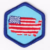 Living In The Usa Badge Blue-Th 4140 Badges