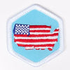Living In The Usa Badge White-Pi/pa 4140 Badges