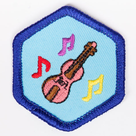 Music Appreciation Badge Blue-Th 4140 Badges
