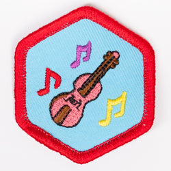 Music Appreciation Badge Red-Ex 4140 Badges