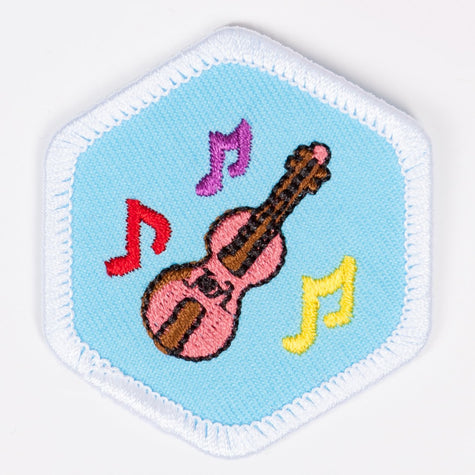 Music Appreciation Badge White-Pi/pa 4140 Badges