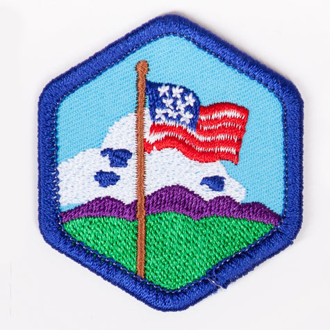 Our Flag Badge Blue-Th 4140 Badges