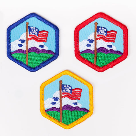 Our Flag Badge 4140 Badges