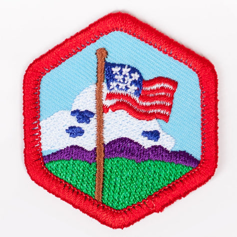 Our Flag Badge Red-Ex 4140 Badges
