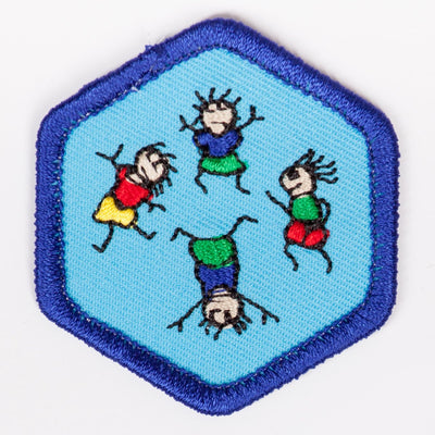 Physical Fitness Badge Blue-Th 4140 Badges
