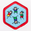 Physical Fitness Badge Red-Ex 4140 Badges