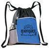 Reach Higher Drawstring Daypack Blue / 14X18X1.5 4095 Gift Sales