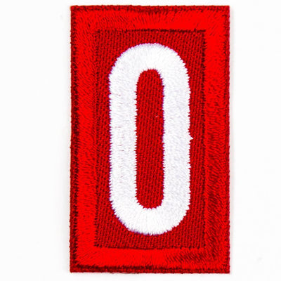 Red Troop Number Patches / 0 4135 Uniforms