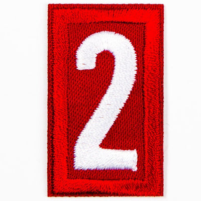 Red Troop Number Patches / 2 4135 Uniforms