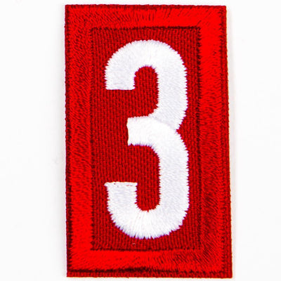 Red Troop Number Patches / 3 4135 Uniforms