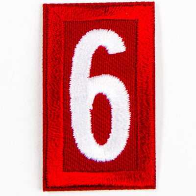 Red Troop Number Patches / 6 Or 9 4135 Uniforms