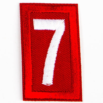 Red Troop Number Patches / 7 4135 Uniforms