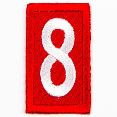 Red Troop Number Patches / 8 4135 Uniforms