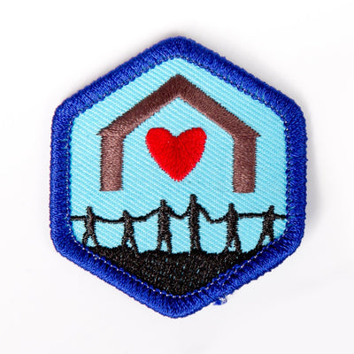 Together As A Family Badge Blue-Th 4140 Badges