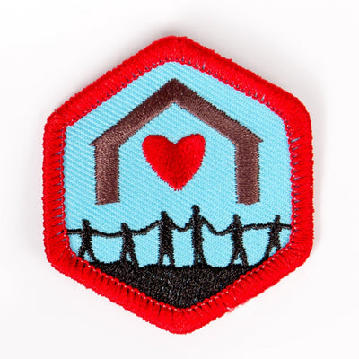 Together As A Family Badge Red-Ex 4140 Badges