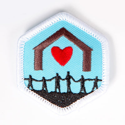 Together As A Family Badge White-Pi/pa 4140 Badges