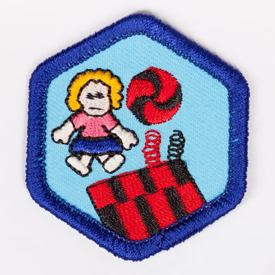 Toys And Games Badge Blue-Th 4140 Badges