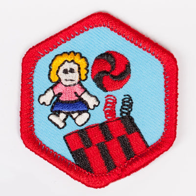 Toys And Games Badge Red-Ex 4140 Badges