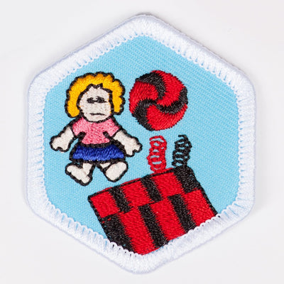 Toys And Games Badge White-Pi/pa 4140 Badges