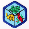 Zoology Badge Blue-Th 4140 Badges